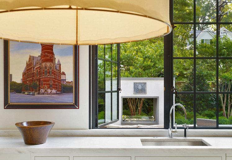 Transitional Kitchen by Anne Decker Architects, LLC