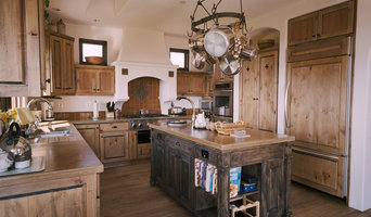 Distressed knotty alder kitchen in Aptos