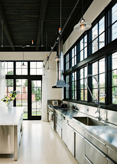 Industrial Cocina by Emerick Architects