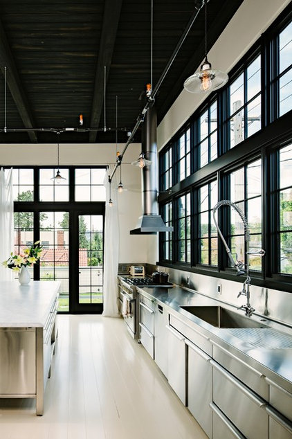 Industrial Kitchen by Emerick Architects