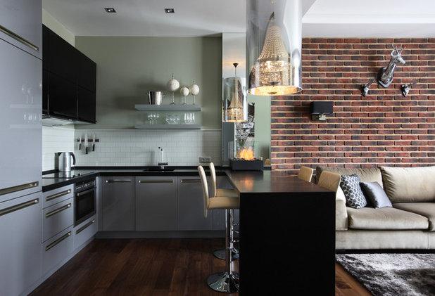 дизайн кухни студии с барной стойкой 16 фото варианты интерьера