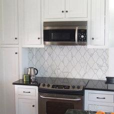 Transitional Kitchen by New Ravenna Mosaics