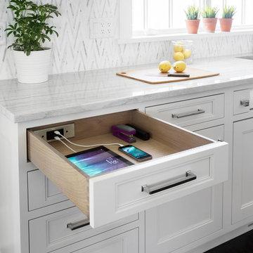 Docking Drawer in Studio Dearborn kitchen