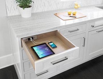 Docking Drawer in Studio Dearborn Kitchen