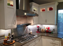 What color is the countertop and is it quartz?