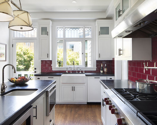 Inspiration For A Large Victorian U Shaped Enclosed Kitchen Remodel In San  Francisco With A
