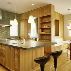 contemporary kitchen by Schwartz and Architecture