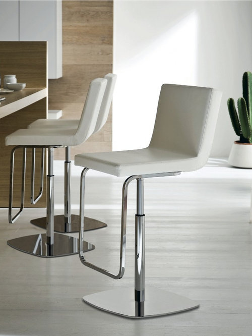 Inspiration for a contemporary kitchen remodel in London & Swivel Counter Stools With Back | Houzz islam-shia.org