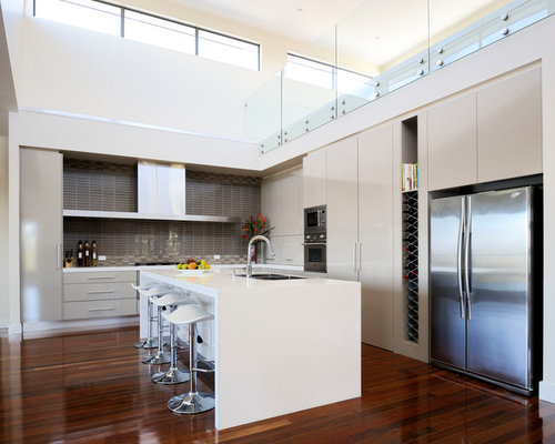 Flat Panel Kitchen Cabinets Ideas, Pictures, Remodel and Decor