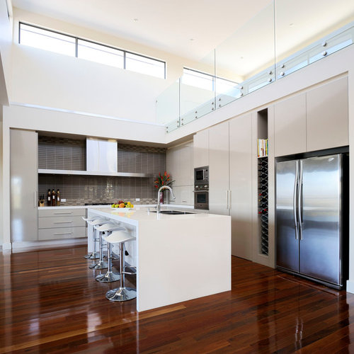 Flat Panel Kitchen Cabinets | Houzz