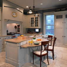 transitional kitchen by Michael A. Menn