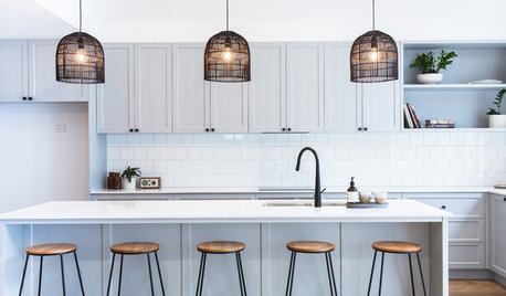 Before and After: An Open and Calming Kitchen in a Light Blue Hue