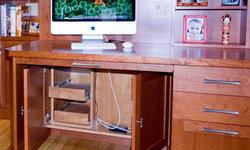 Doors Under Desk to Hide Wires