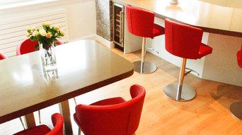 Doris S Barstools with Matching Doris P Arm Chairs