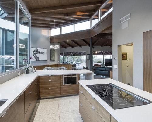 cuisine moderne avec sol en terrazzo photos et id es d co de cuisines. Black Bedroom Furniture Sets. Home Design Ideas