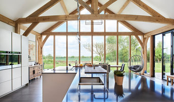 Double Height Barn Contemporary Kitchen