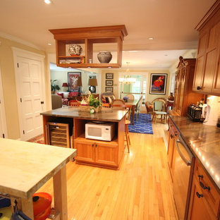 Double Island Kitchen with Walk in Pantry opens to Dining with Island
