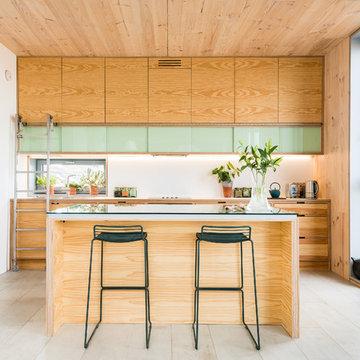 Douglas Fir Veneered Birch Plywood Kitchen