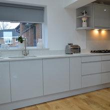 Kitchen With White Starlight Quartz