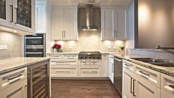 Downtown Chicago Condo White Kitchen