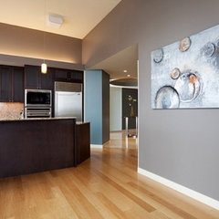 modern kitchen by All Pro Painting