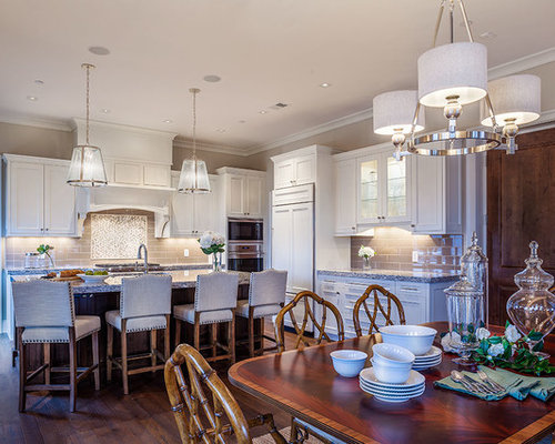 mid sized transitional eat in kitchen ideas example of a mid sized