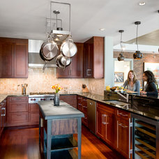 Eclectic Kitchen by Cravotta Interiors