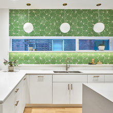 Best of the Week: 35 Cheerfully Colour-Blocked Kitchens »
