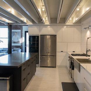 75 Most Popular Industrial Kitchen with Vinyl Flooring ...