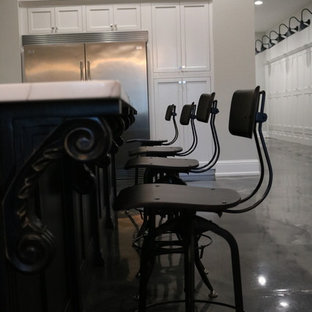 Downtown Loft Kitchen - Industrial style bar stools
