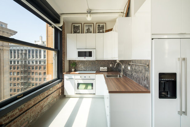 Industrial Kitchen by Hunter Kerhart Photography
