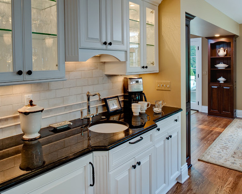 Perfect Tumbled Stone Backsplash Houzz
