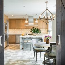 Transitional Kitchen by Cashmere Interior LLC