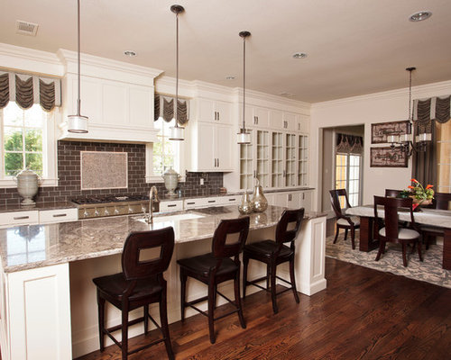 Mid sized modern open concept kitchen appliance inspiration for a mid sized modern