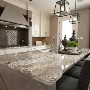Enclosed Kitchen Mid Sized Traditional L Shaped Light Wood Floor Idea Save Photo Dream Home Granite Countertop
