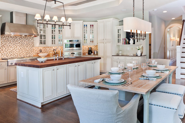 Transitional Kitchen by Dream House Studios