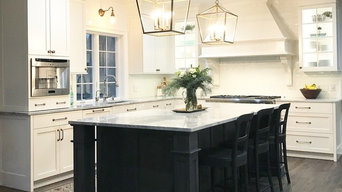 Dream white and gray custom kitchen in Glastonbury