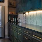 Loft Condo Renovation - Industrial - Kitchen - Chicago - by Besch Design, Ltd.