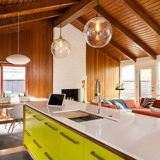 Inspiration for a midcentury kitchen in Kansas City.