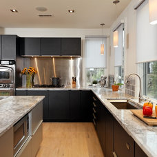 Transitional Kitchen by Laurence Cafritz Builders