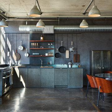 DTLA Industrial Loft Apartment: Kitchen & Dining