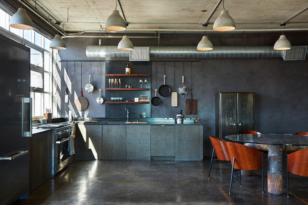 Industrial Kitchen by Andrea Michaelson Design