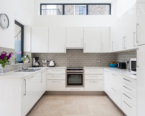 U Shaped Modern Kitchen Photos Houzz