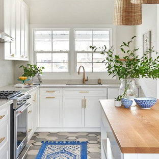 Tile Floor With White Kitchen Cabinets Tile Floor with White Cabinets | Houzz