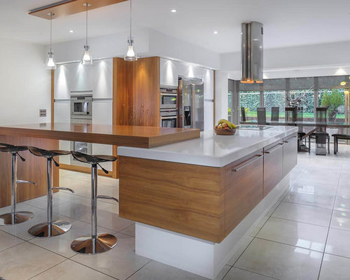 Inspiration For A Large Contemporary And Modern Kitchen/diner In Other With  Flat Panel