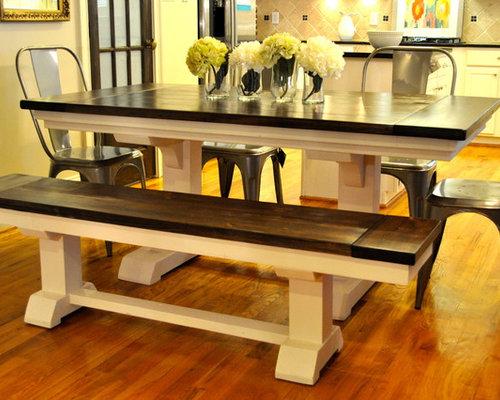 Superior Example Of A Mid Sized Trendy U Shaped Medium Tone Wood Floor Eat