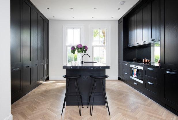 Transitional Kitchen by Amberth