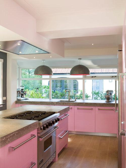 Light Pink Kitchen Houzz