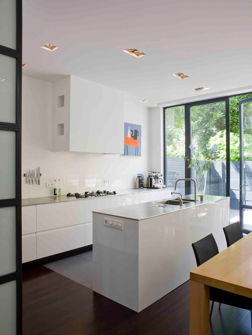 Rectangular kitchen houzz for Narrow rectangular kitchen design