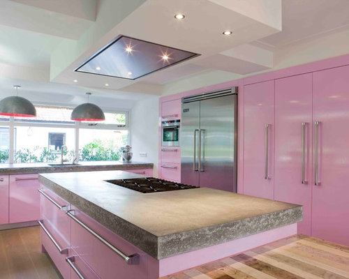 Pink Kitchen | Houzz